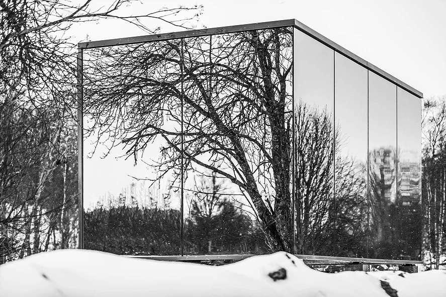corner in winter
