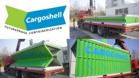 cargoshell collapsible shipping container photo collage
