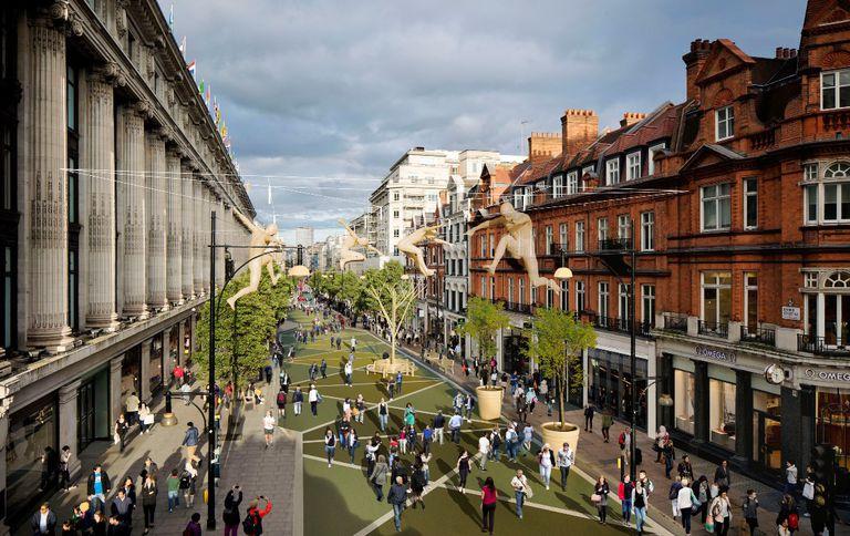 Oxford Street de Londres puede ser solo peatonal