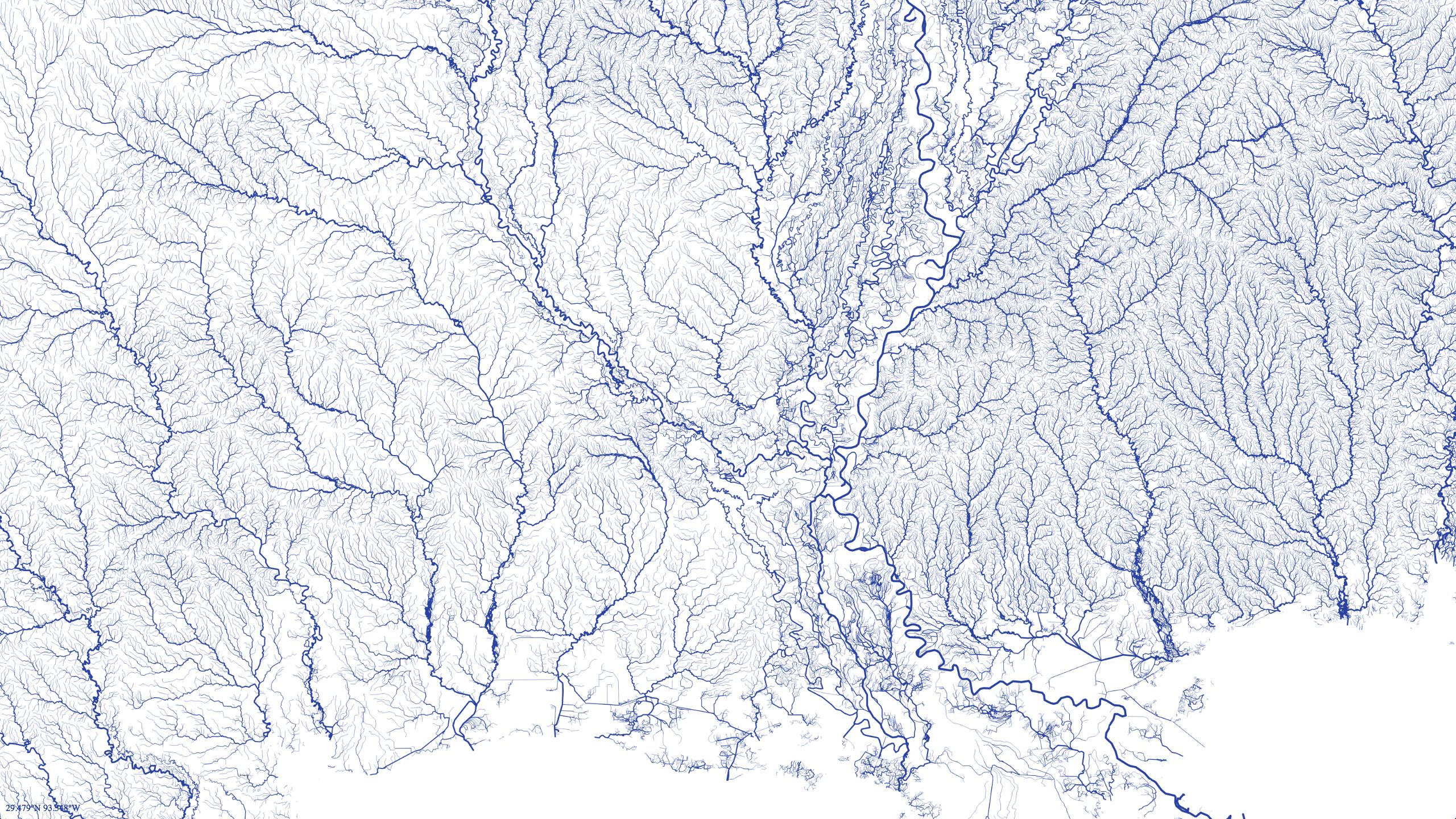 Rivers in Louisiana and the Gulf coast