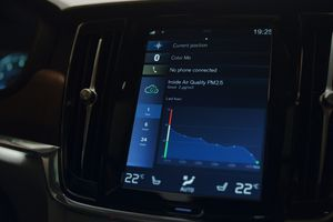 Volvo dashboard showing air quality