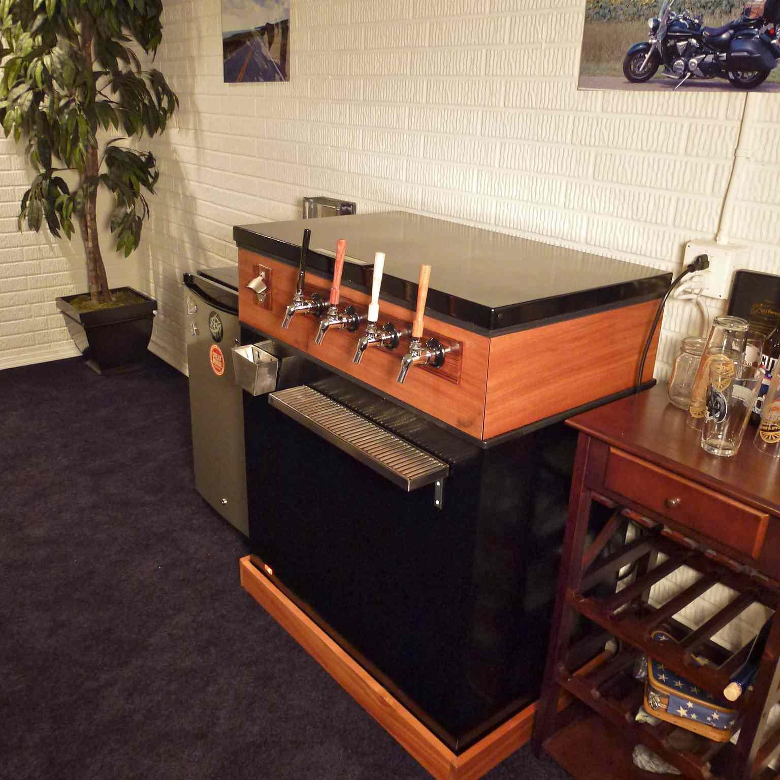 kegerator sadly without raspberry pi display