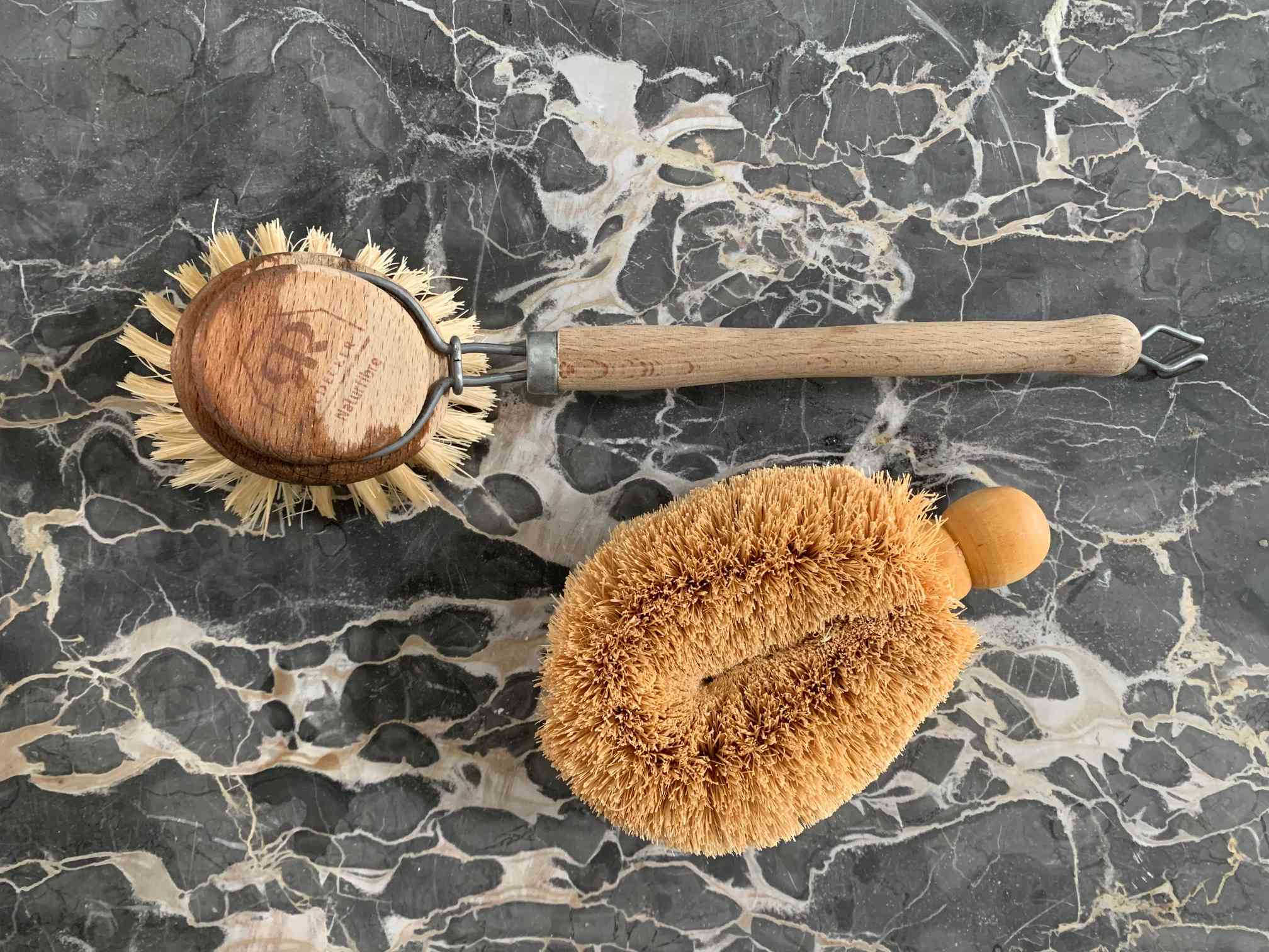 Bristle dish brush and pot brush