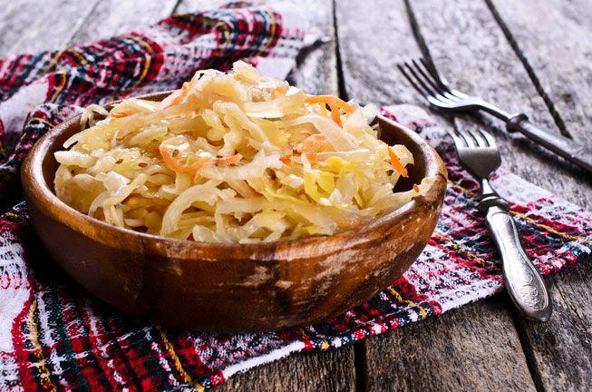 A bowl of sauerkraut