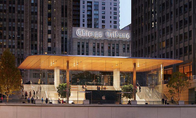 Eso no es un techo en la Apple Store de Chicago; Es el niño del cartel del diseño insostenible