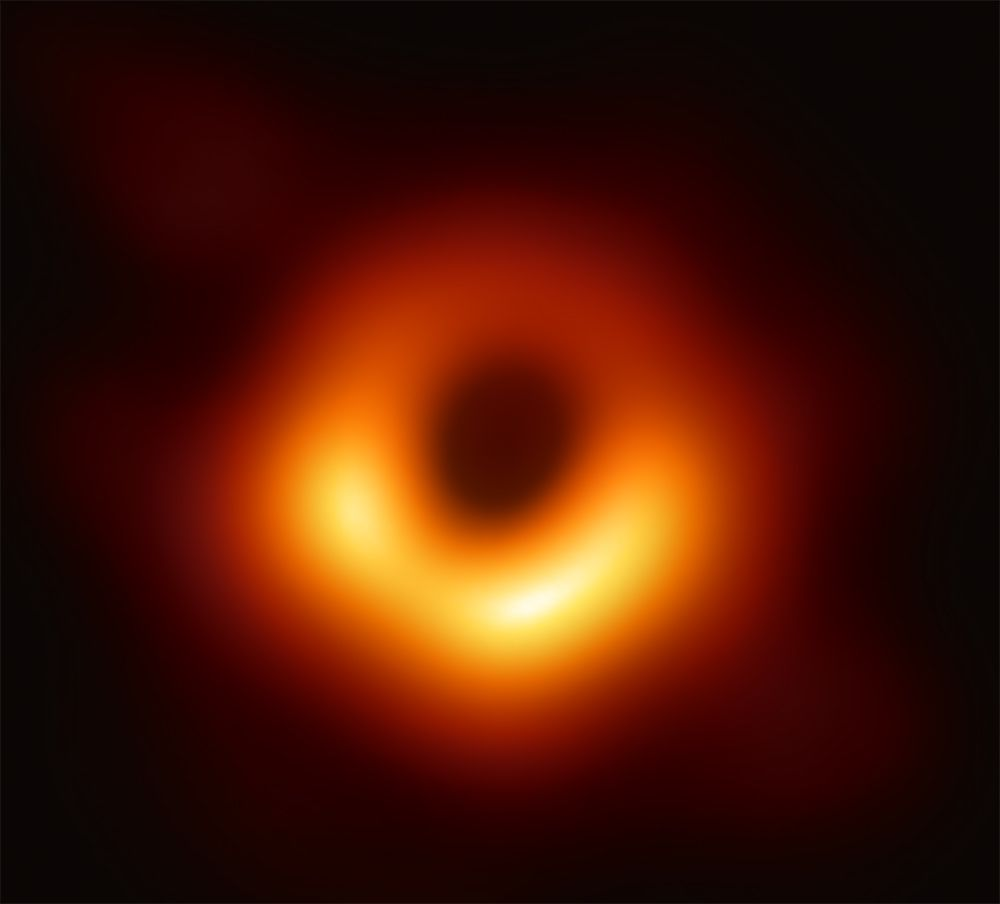 A close-up photo of the black hole at the heart of Sagittarius A*.