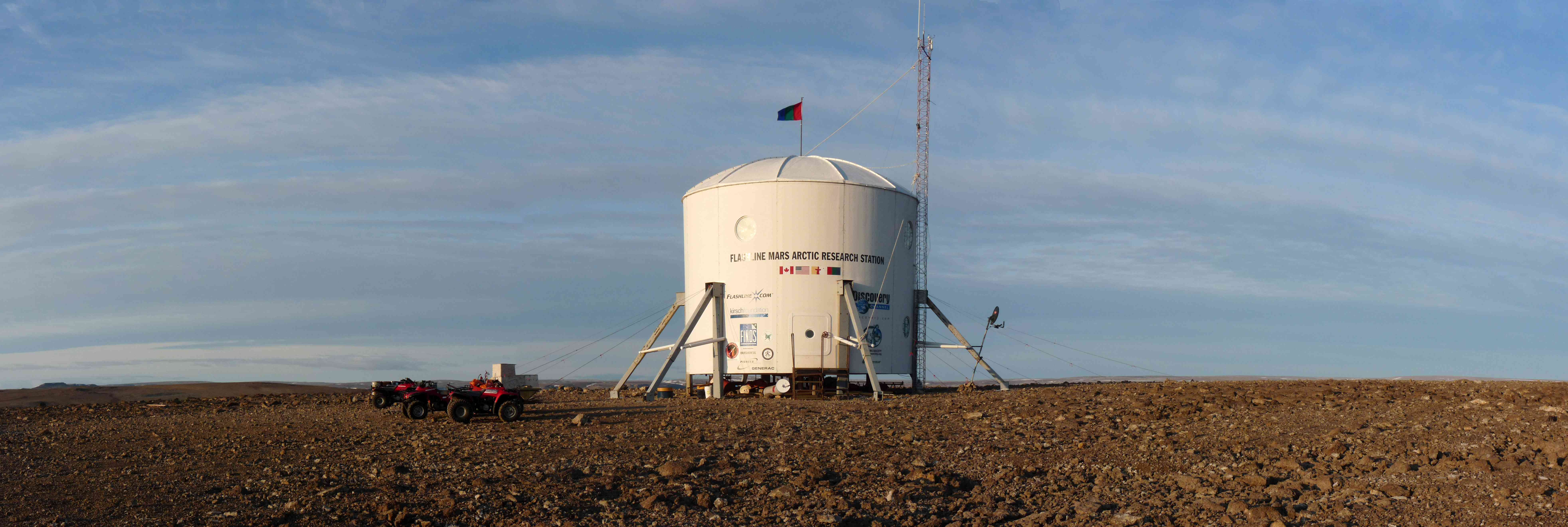 The Flashline Mars Arctic Research Station in 2009