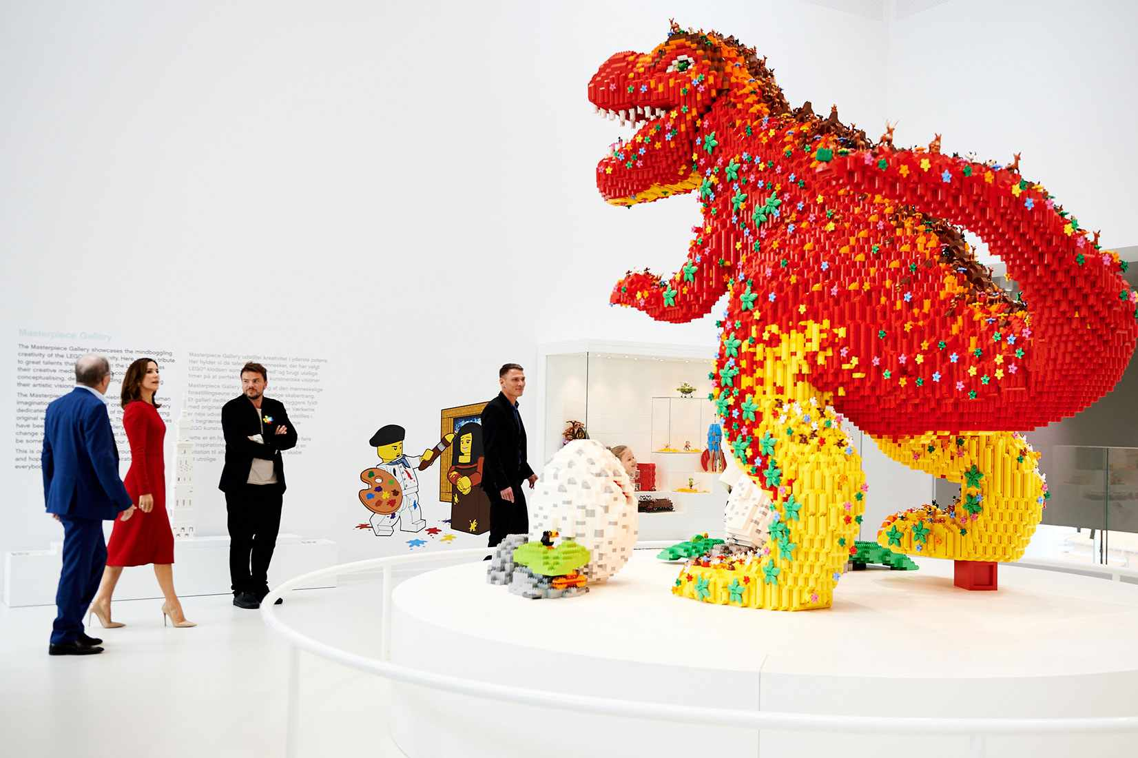LEGO Dinosaur x Bjarke Ingels, LEGO House, Billund, Denmark