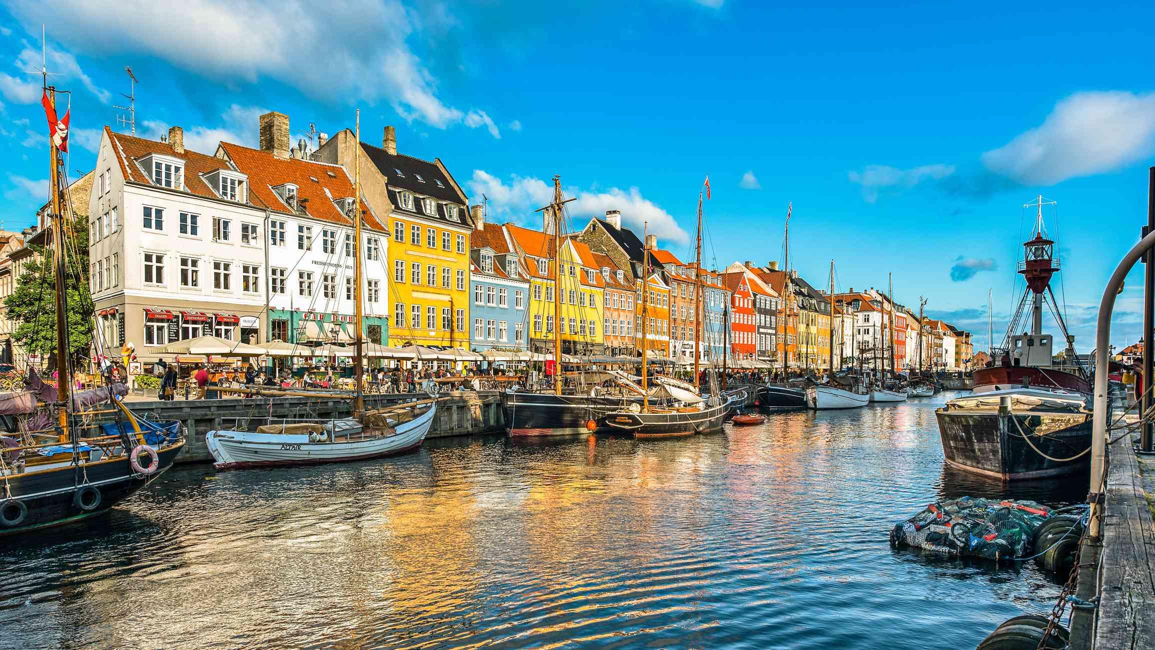 Nyhavn Canal in Copenhagen, Denmark