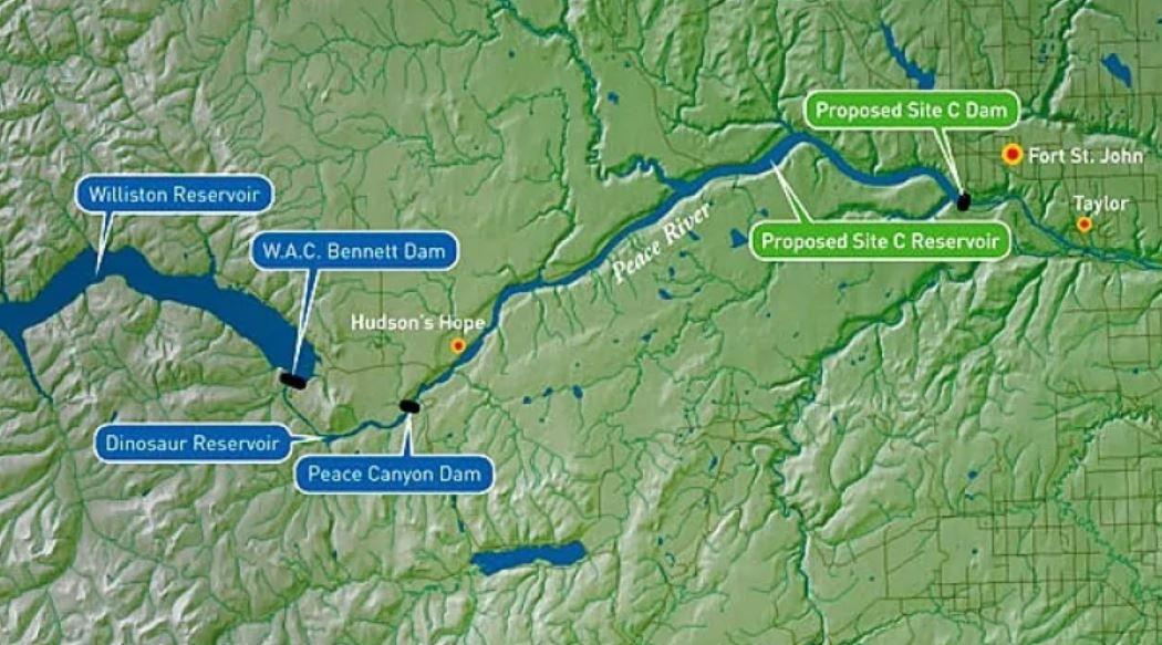 Map showing devleopments at Wood Buffalo National Park