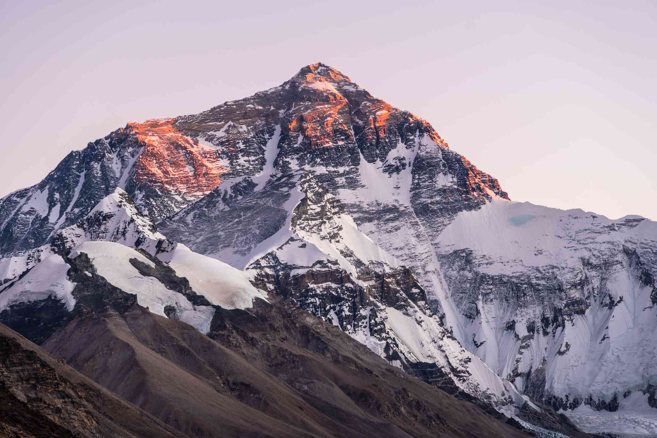 View of Mount Everest from Tibet