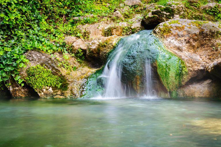 Natural spring inside Hot Springs National Park