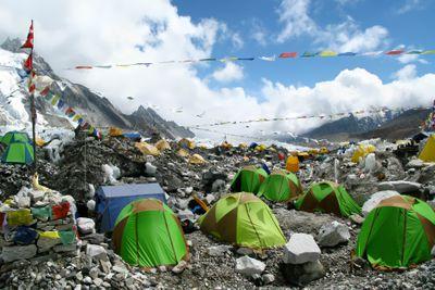 Tents at Everest Base Camp, Everest Region, Nepal