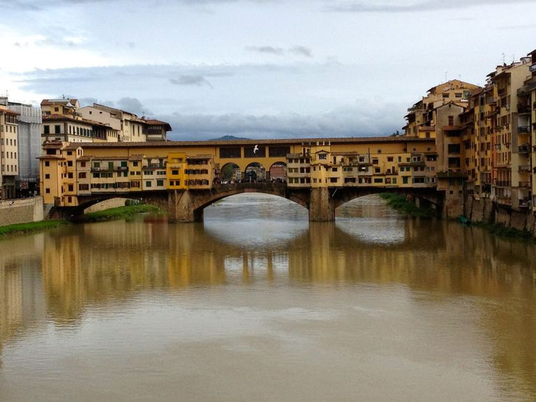 Bridge in Florence, Italy spanning a river