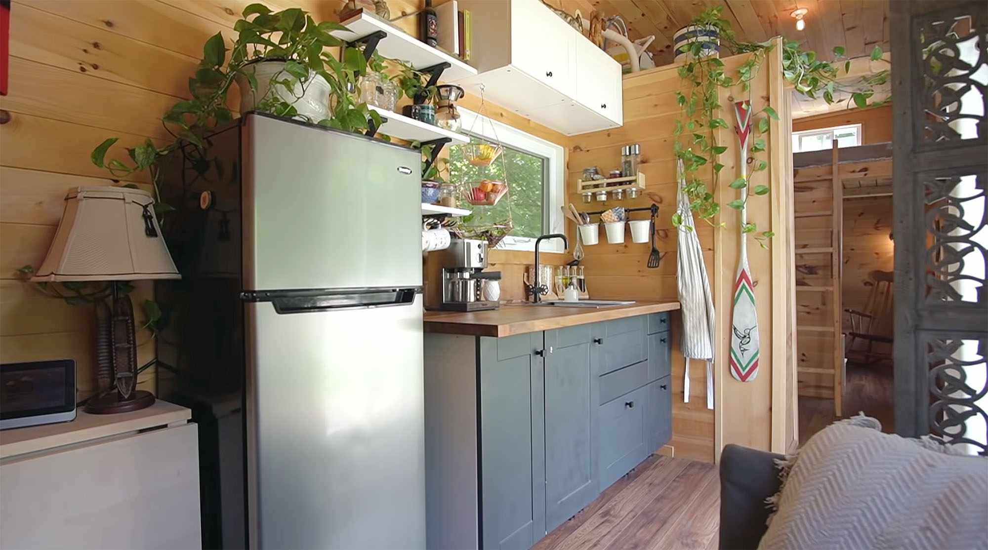 Giving Tree Family tiny house kitchen