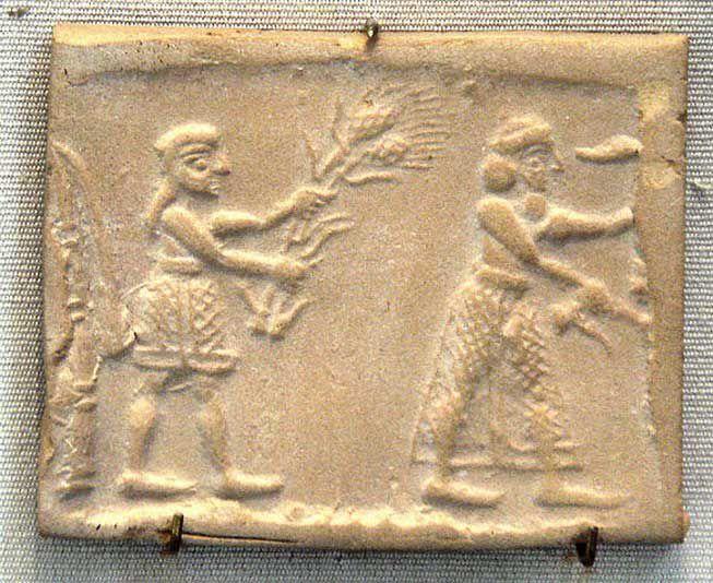 An Uruk plate from a
