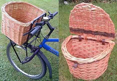 David Hembrow willow bicycle baskets photo