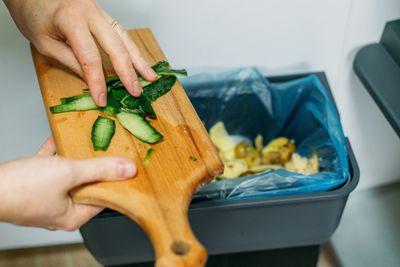 cucumber peelings go in garbage