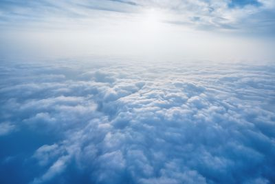 scenery above clouds