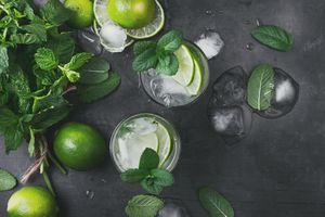 Mint and lime soda