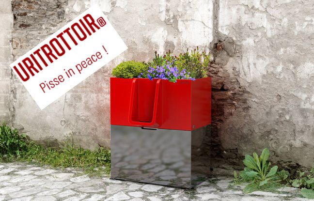 Uritrottoir, a plant-topped waterless pubic urinal concept from France.