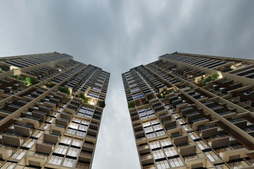 Looking up at South Avenue Residences