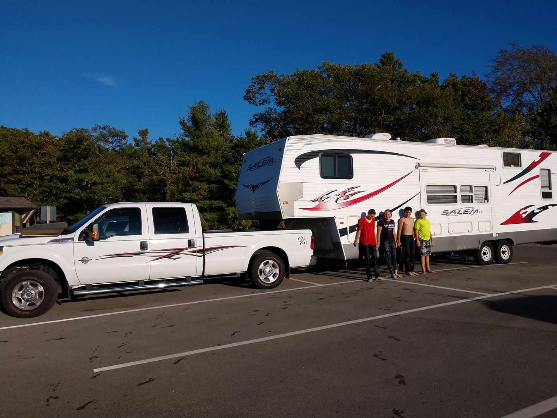 Pickup truck and camper