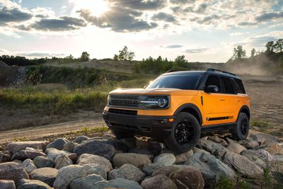 Ford Bronco on the rocks