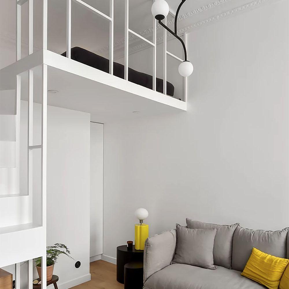 Boulevard Arago apartment renovation Studio Beau Faire living room