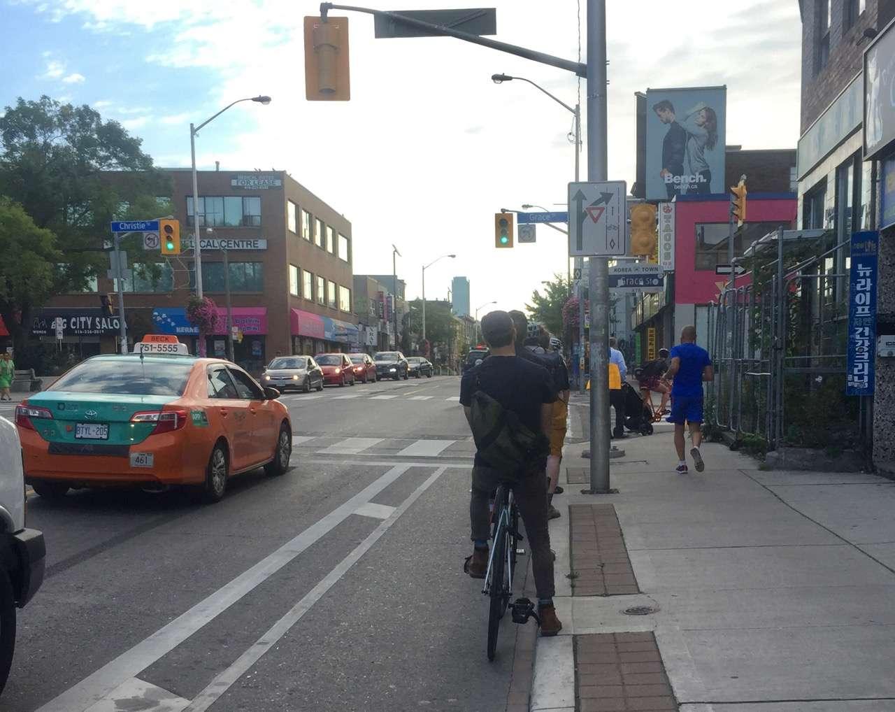 Bloor bike lane