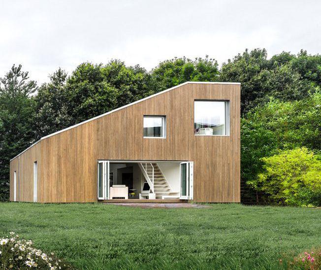 Casa construida con contenedores de envío diseñada en Dinamarca, ensamblada en China