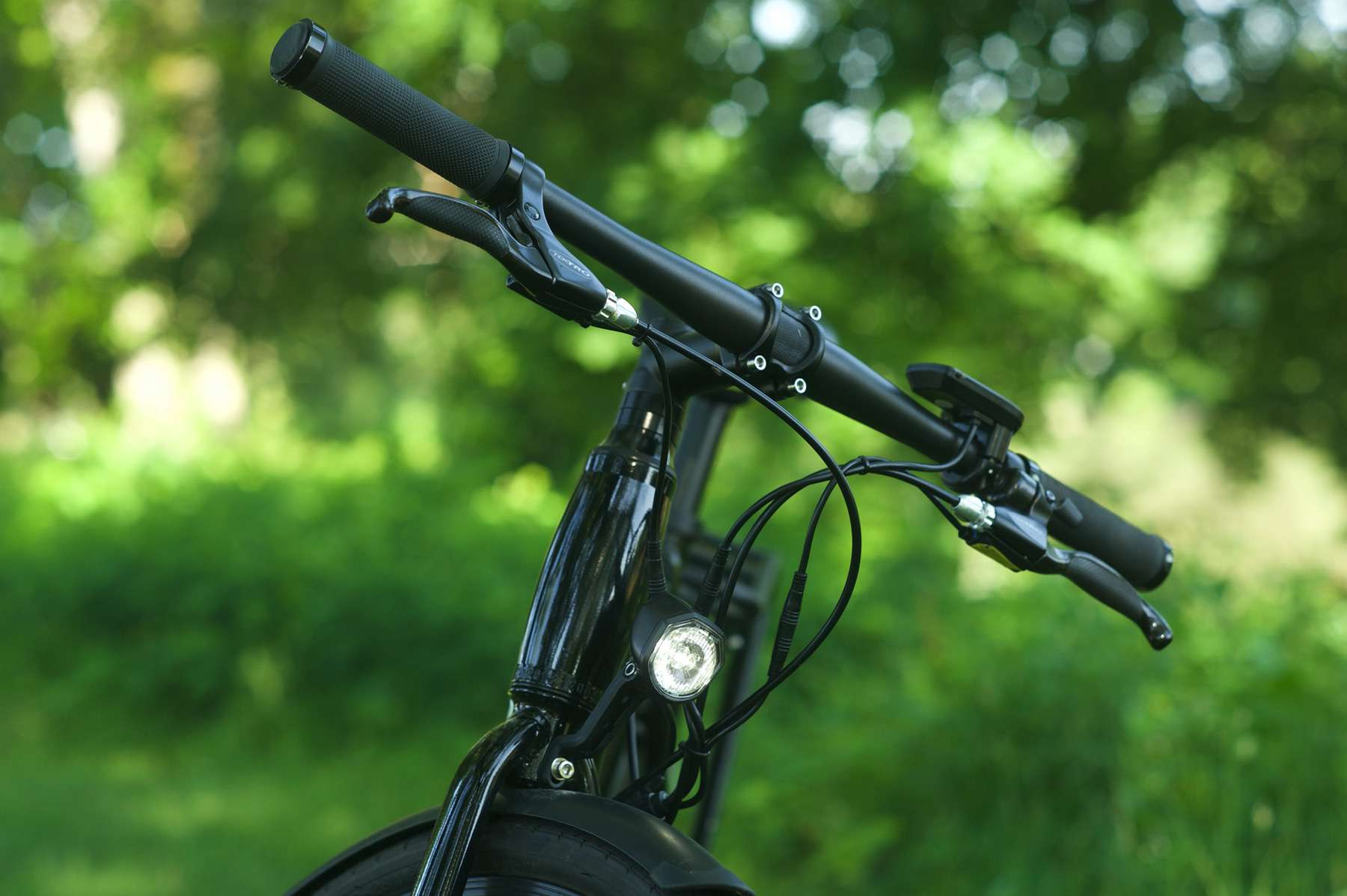Handlebars with lights built in