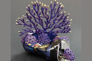 nature inspired sculptures with discarded objects Stephanie Kilgast