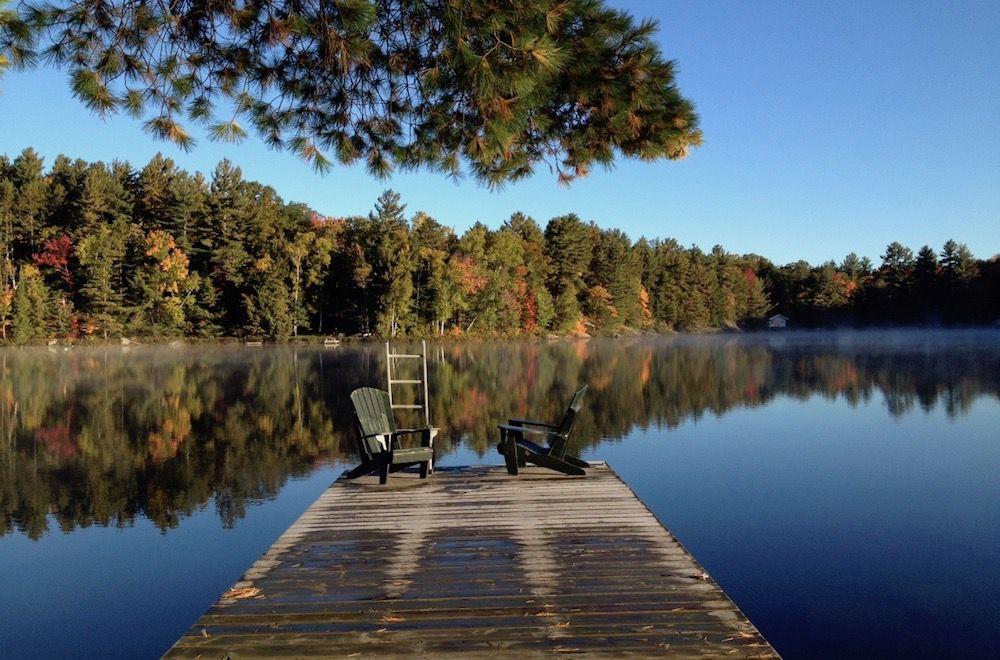 Beautiful lake with dock