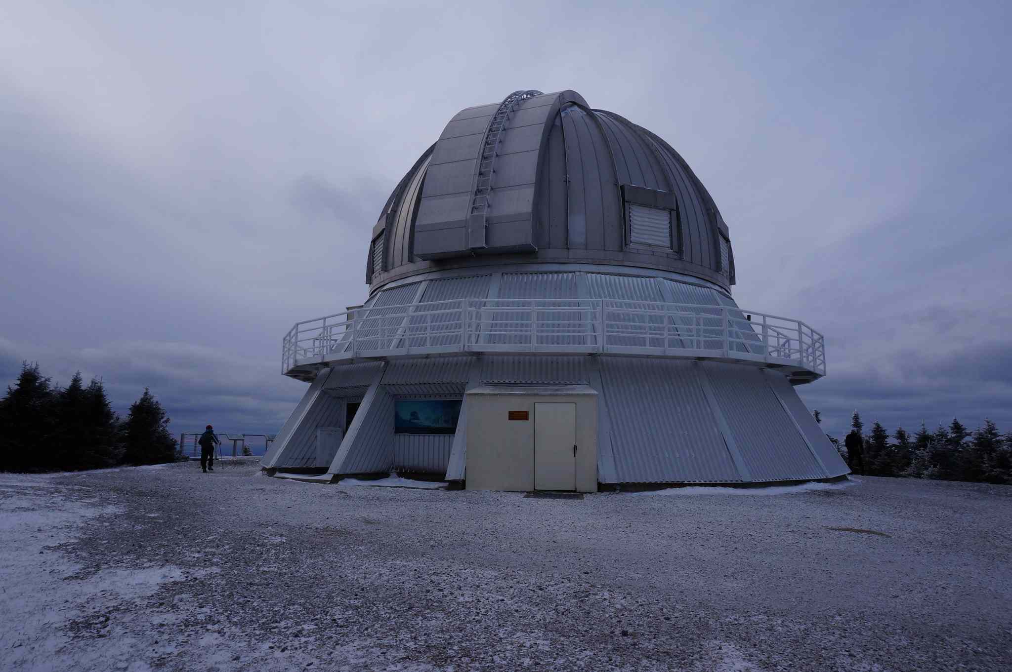 ASTROLab Observatory on an overcast day atop Mont Mégantic