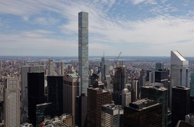 432 Park Avenue from the top of Rockefeller Center