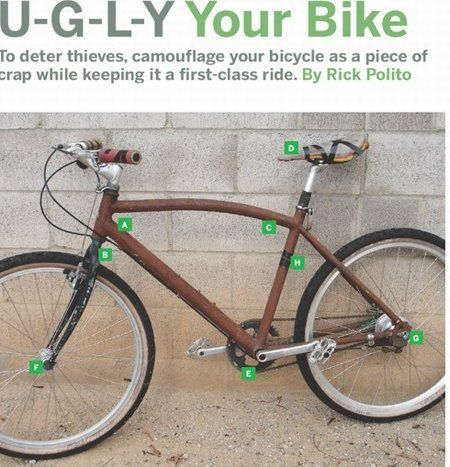 ugly your bike to deter thieves image