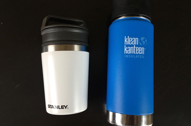comparing coffee mugs