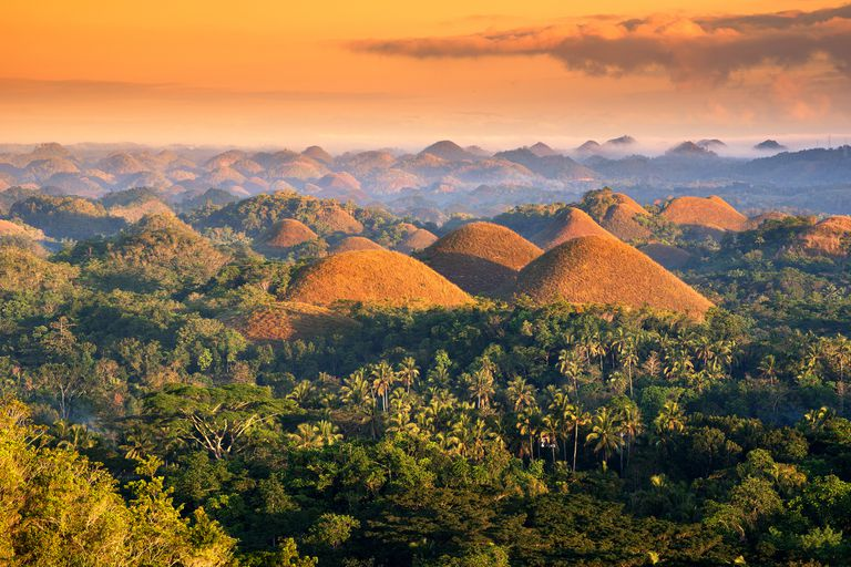 The Chocolate Hills, a geological formation in the Philippines