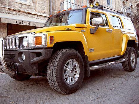 Yellow Hummer H3 photo