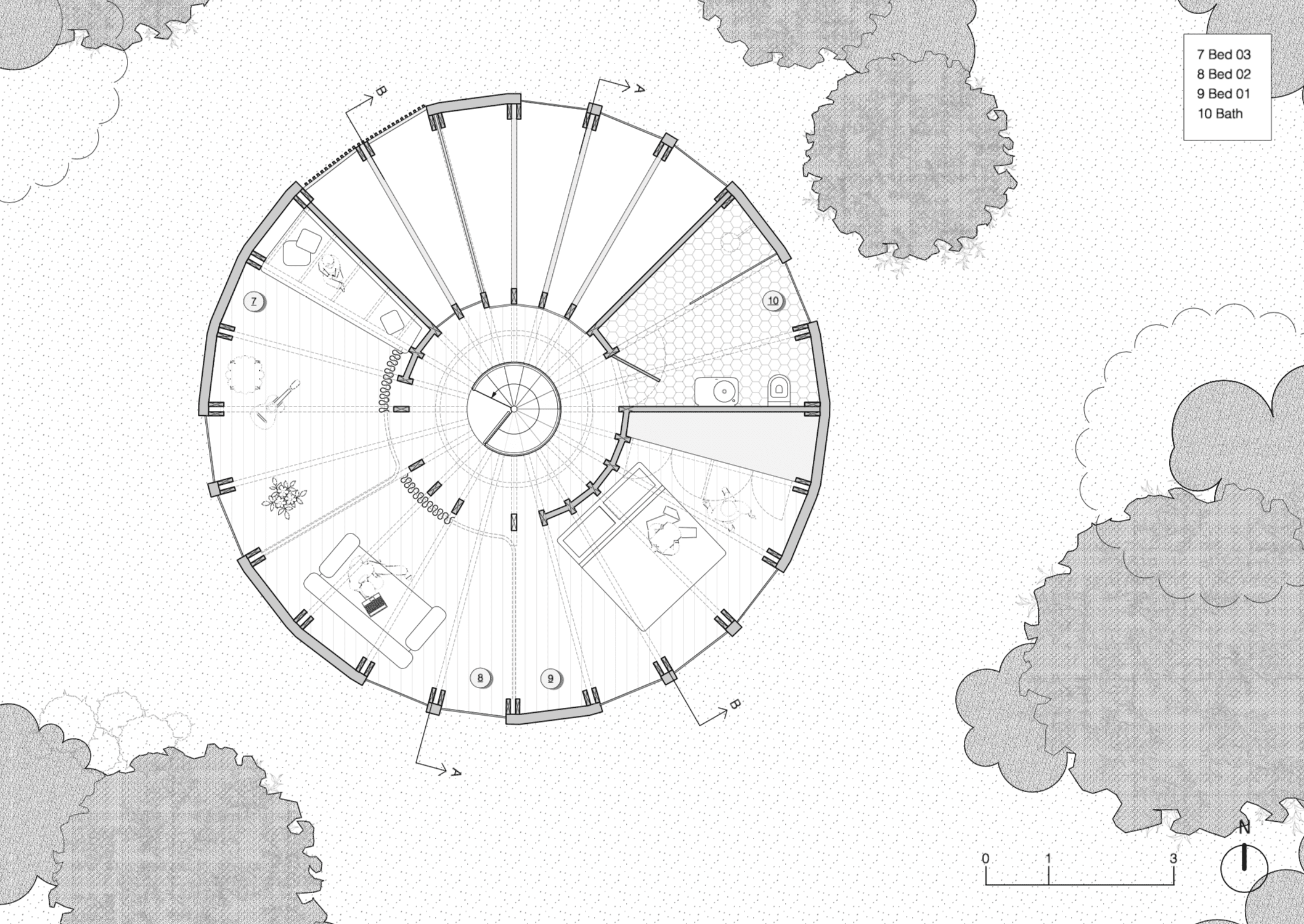 Plan view of lower level