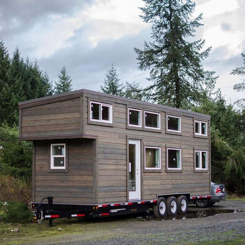 Tiny home on a trailer bed