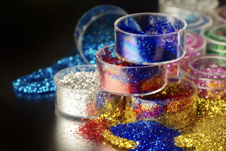 jars of colorful glitter