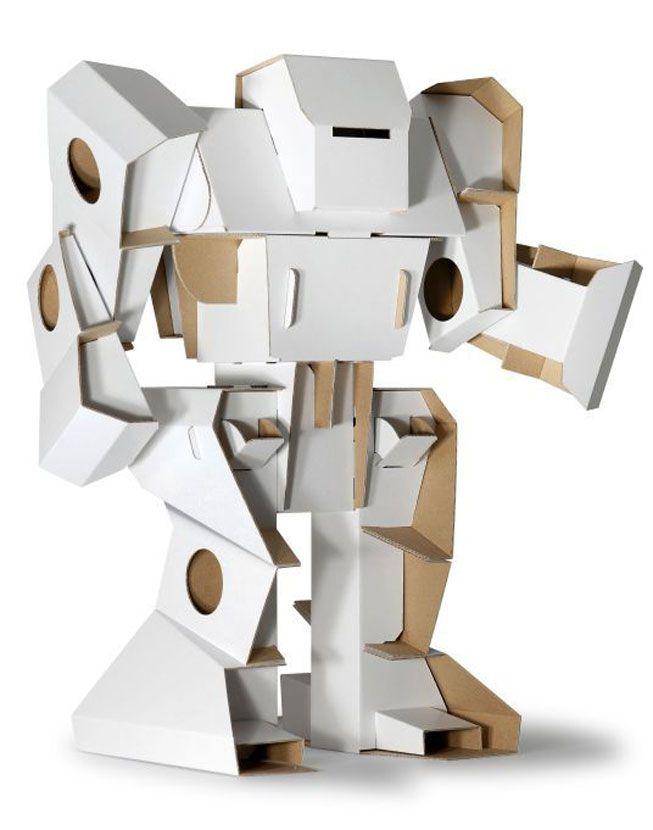 A Calafant cardboard robot