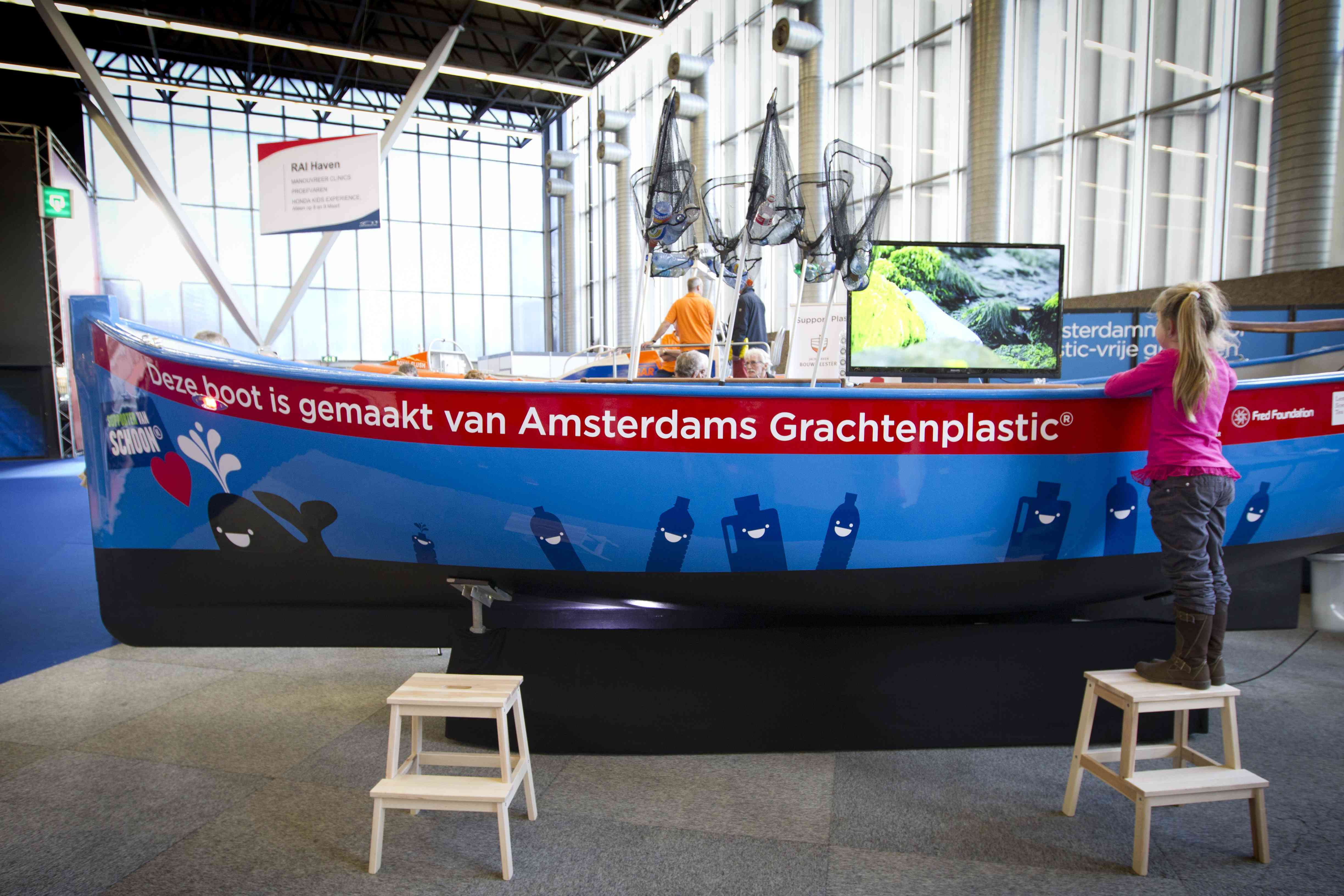 Plastic Whale recycled fishing boat