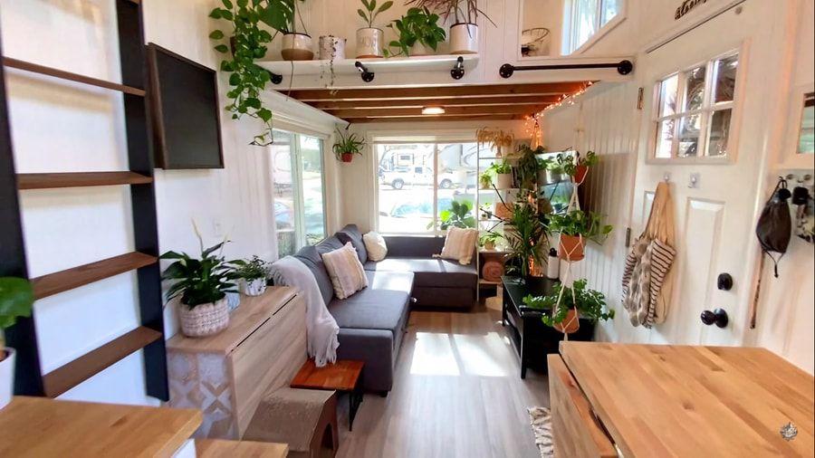 tiny house Rebekah teenytiny7 living room