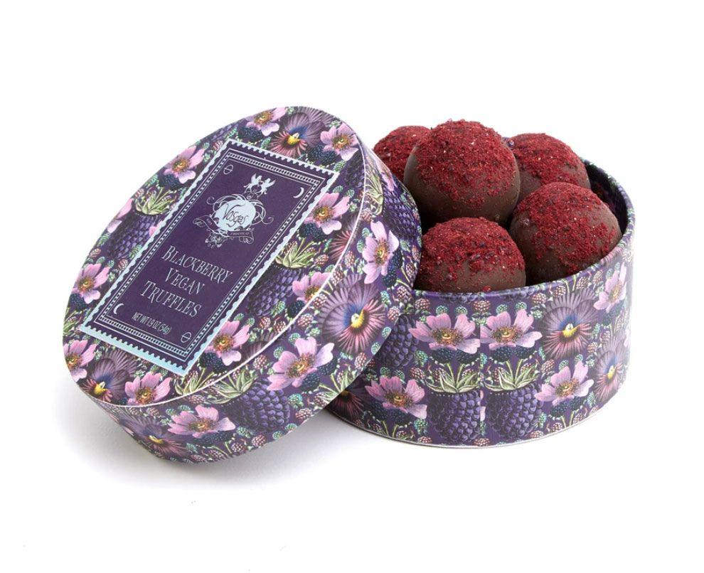 vegan blackberry truffles