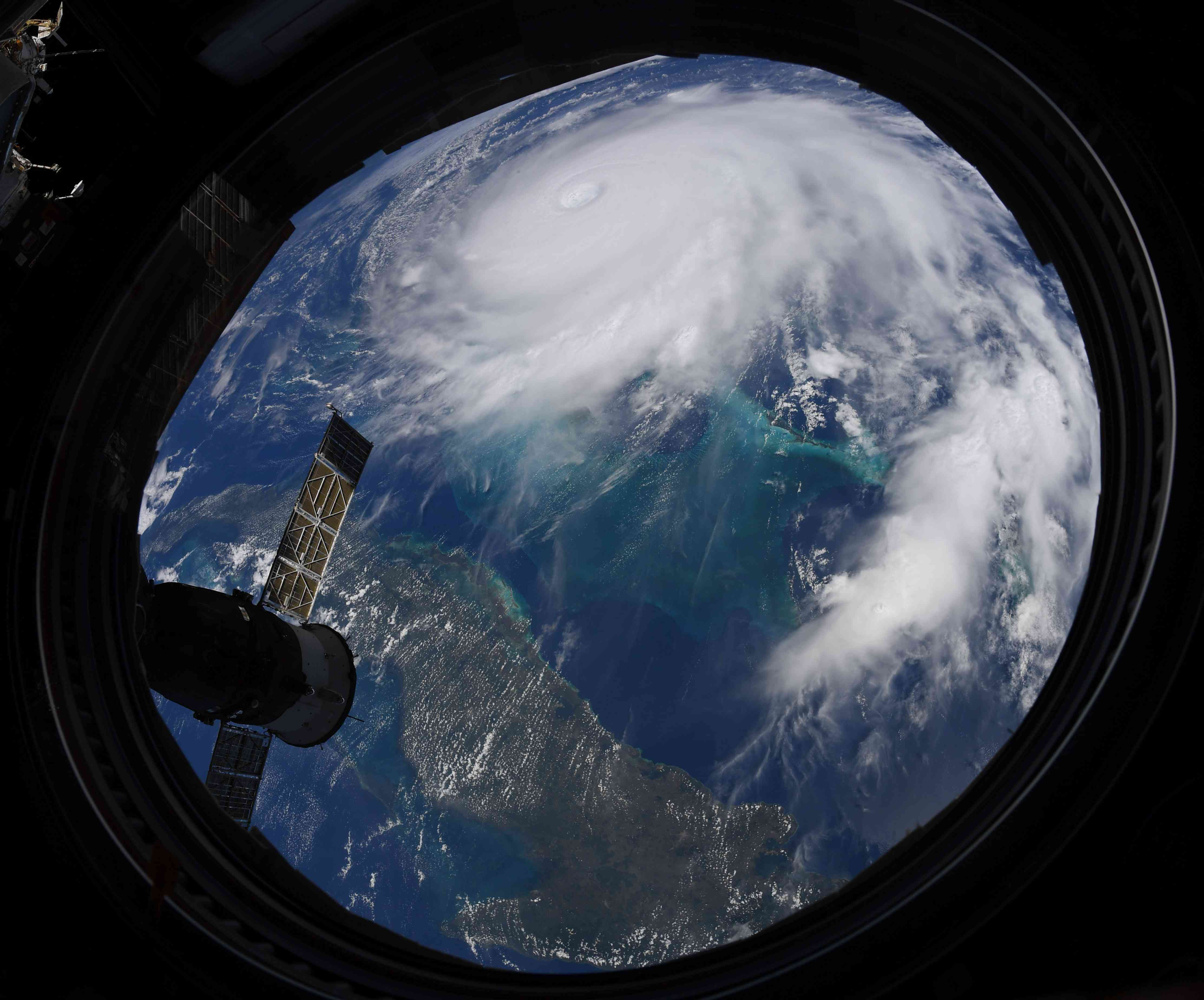 Hurricane Dorian from the ISS