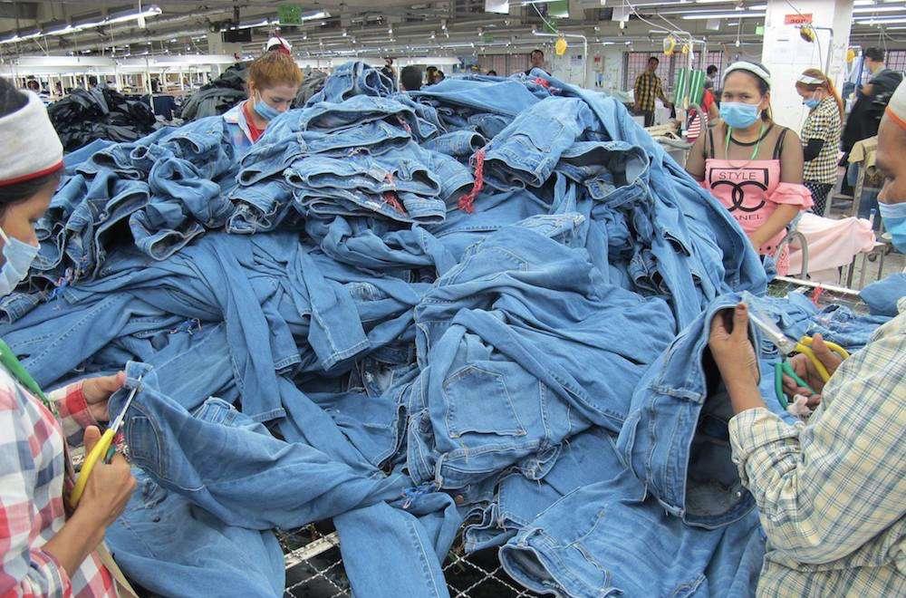 denim in Cambodian factory