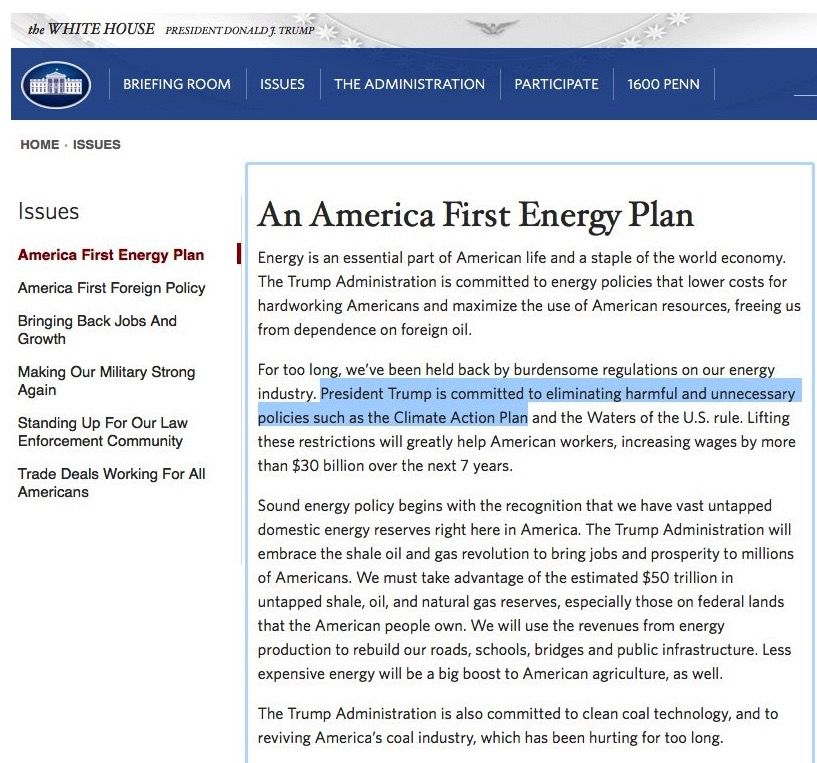white house energy policy